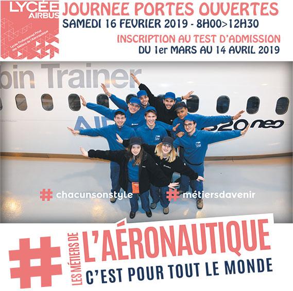 Journée Portes Ouvertes Lycée Airbus le 16 février