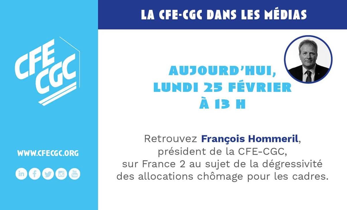 François HOMMERIL au journal de 13h sur France 2