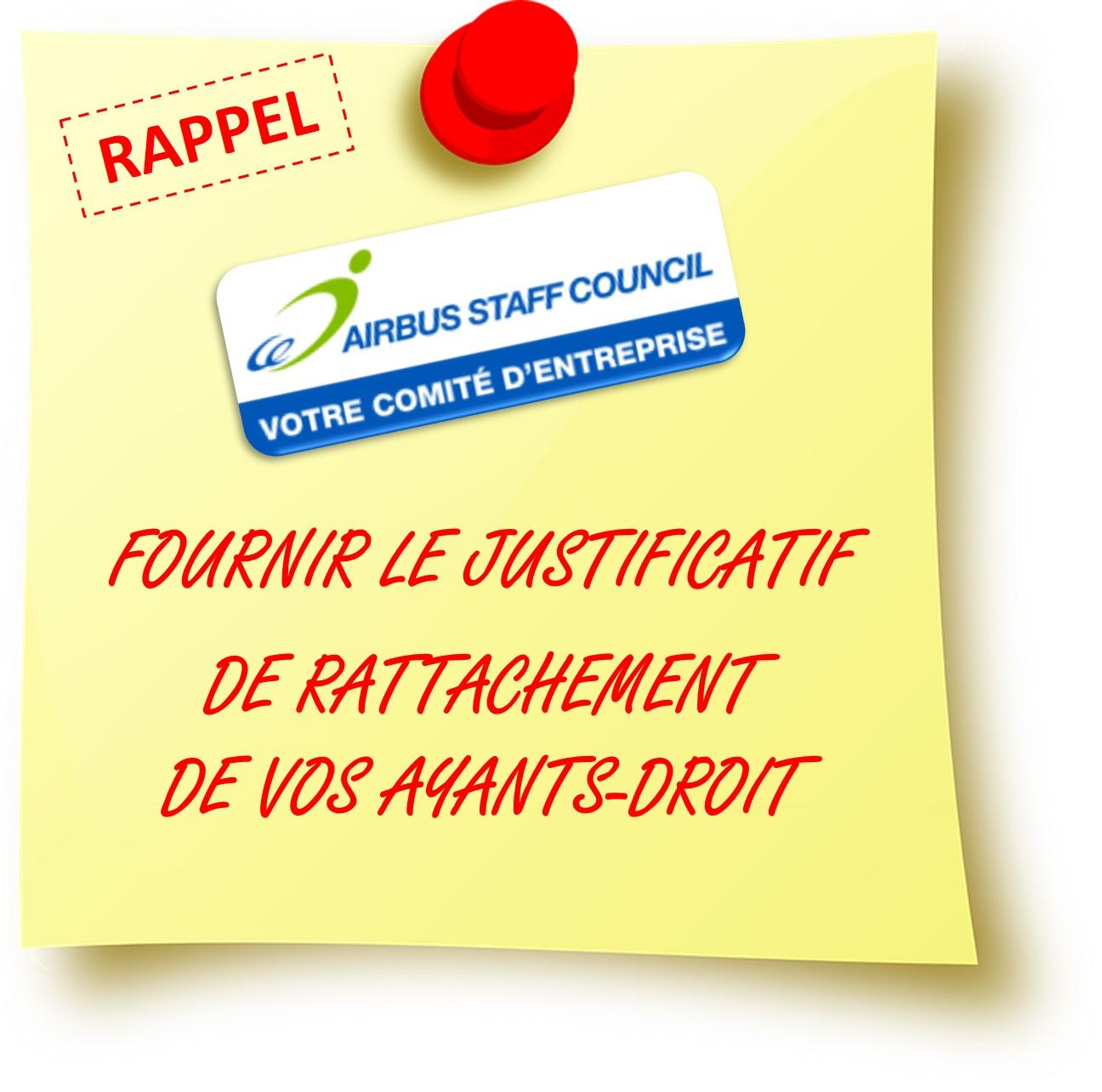 RAPPEL Ayants-Droit AISC