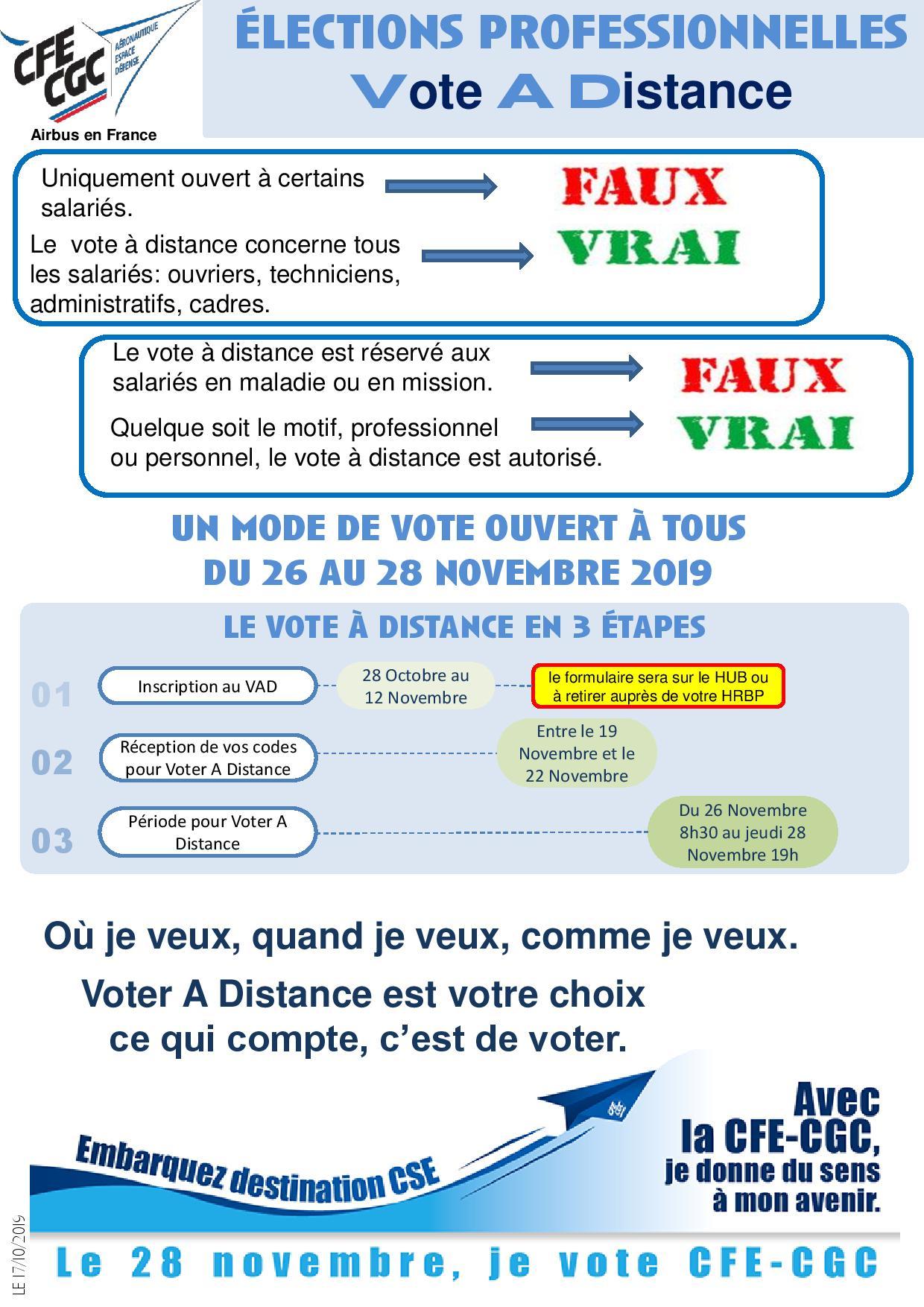 Elections professionnelles : Vote A Distance