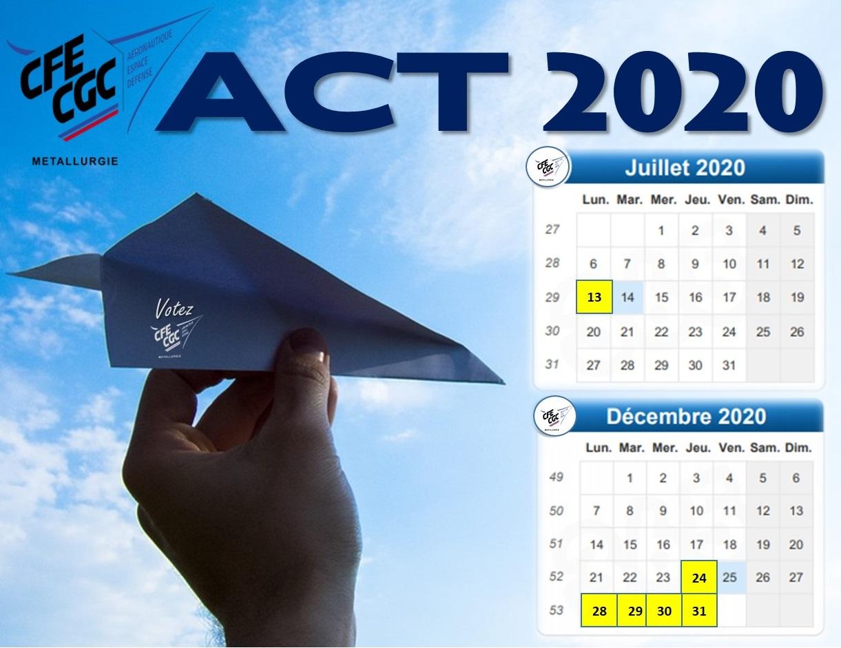 Répartition des jours pour 2020