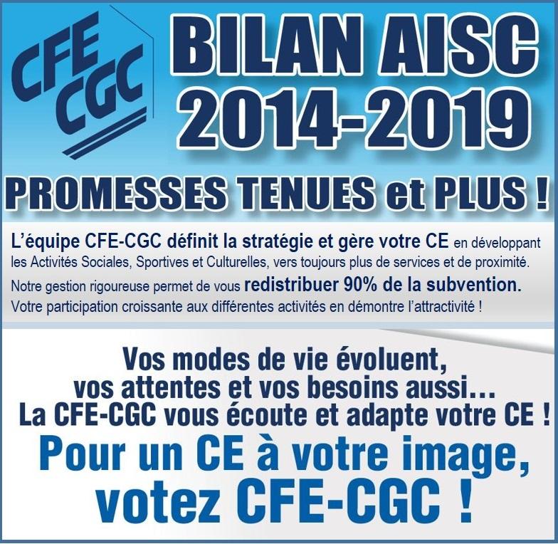 Bilan AISC 2014-2019