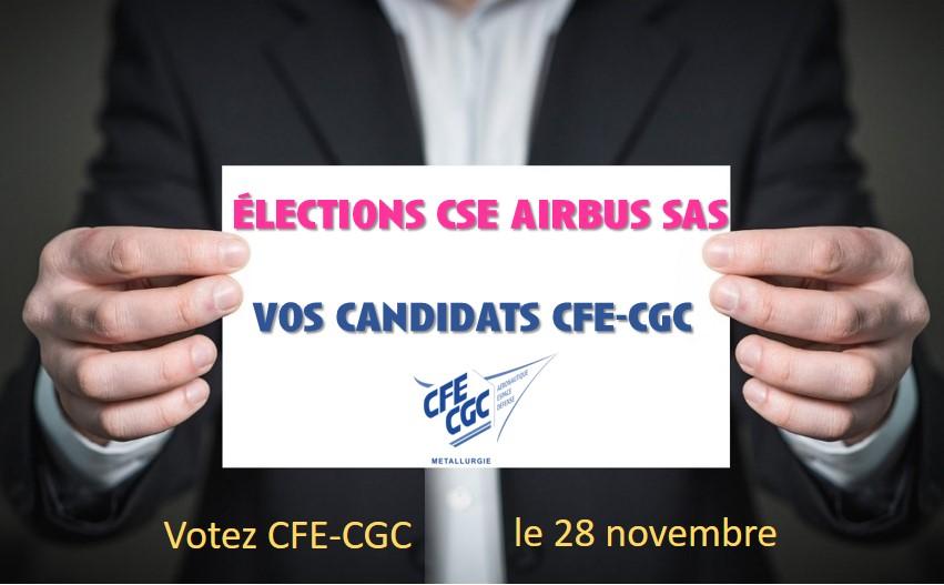 Election CSE Airbus SAS du 28 novembre