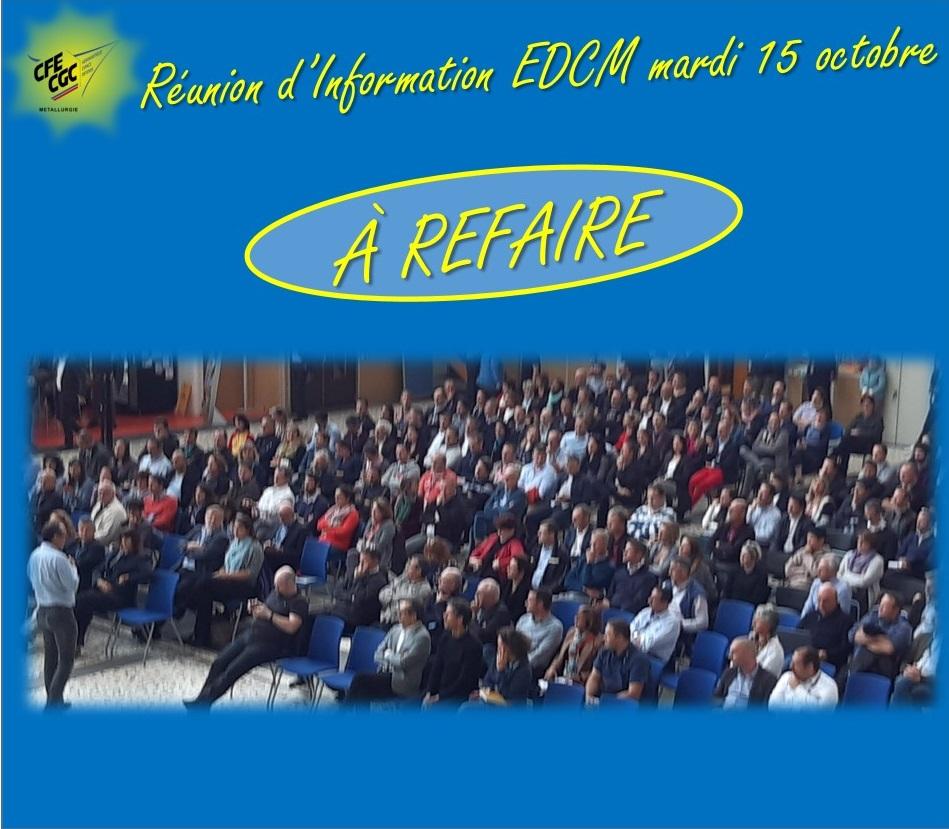 Réunion d'information EDCM du mardi 15 octobre