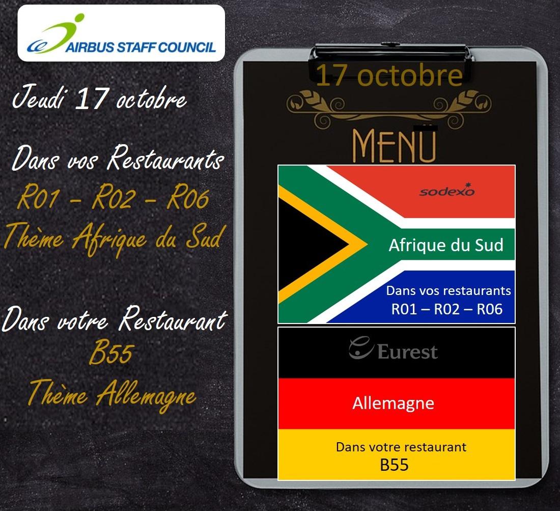 Repas à Thèmes aux Restaurants d'Airbus SAS