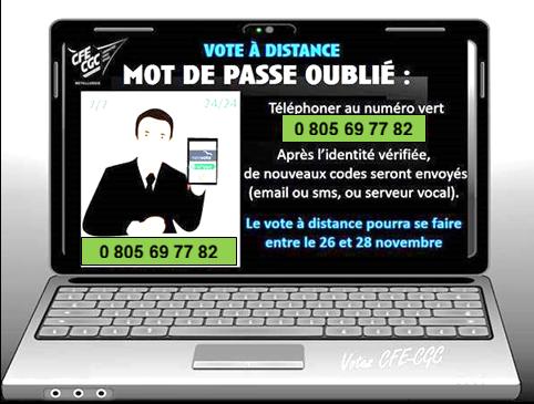 VOTE À DISTANCE DU 26 AU 28 NOVEMBRE