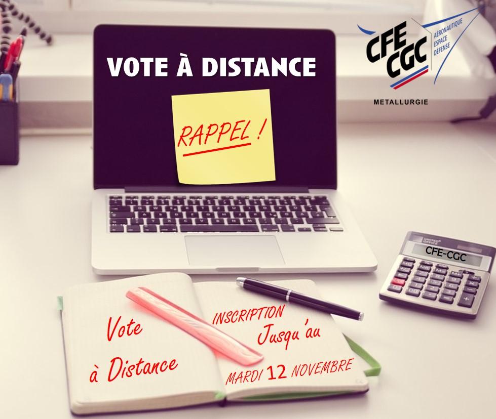 Rappel : Vote à Distance