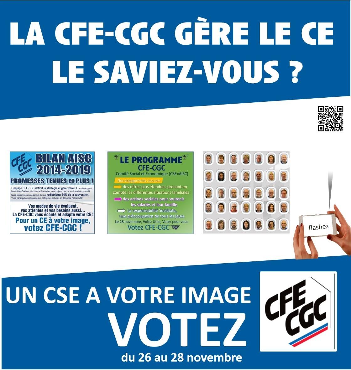 La CFE-CGC Gère le CE