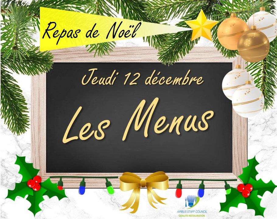 Repas de noël du jeudi 12 décembre