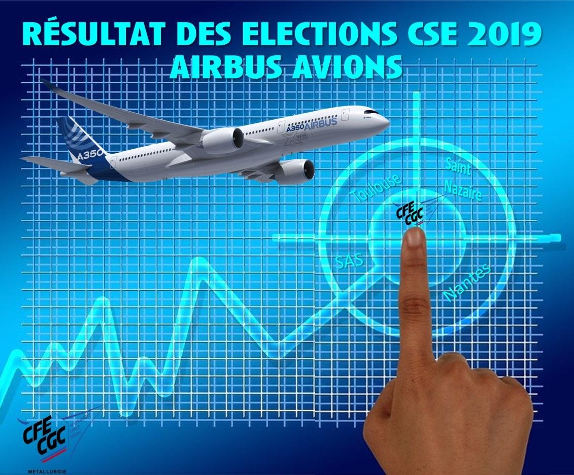 Elections CSE 2019 Airbus Avions