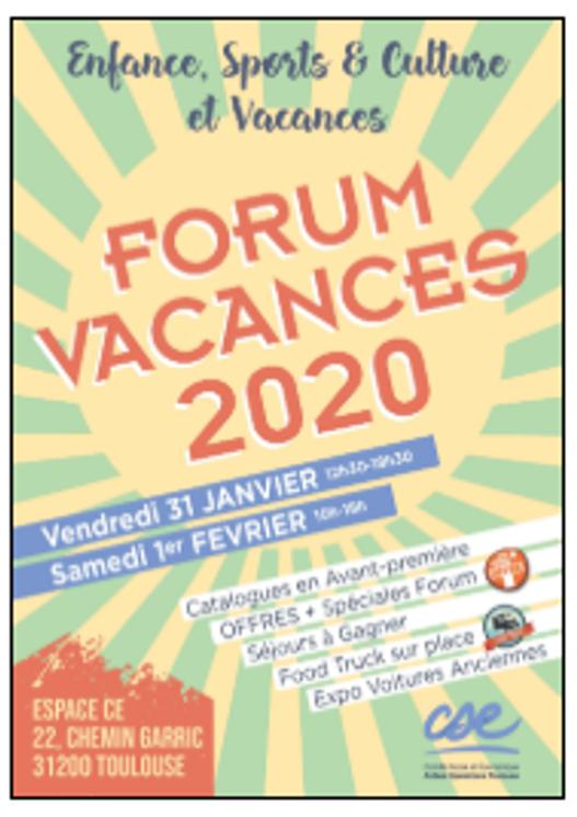FORUM VACANCES 2020