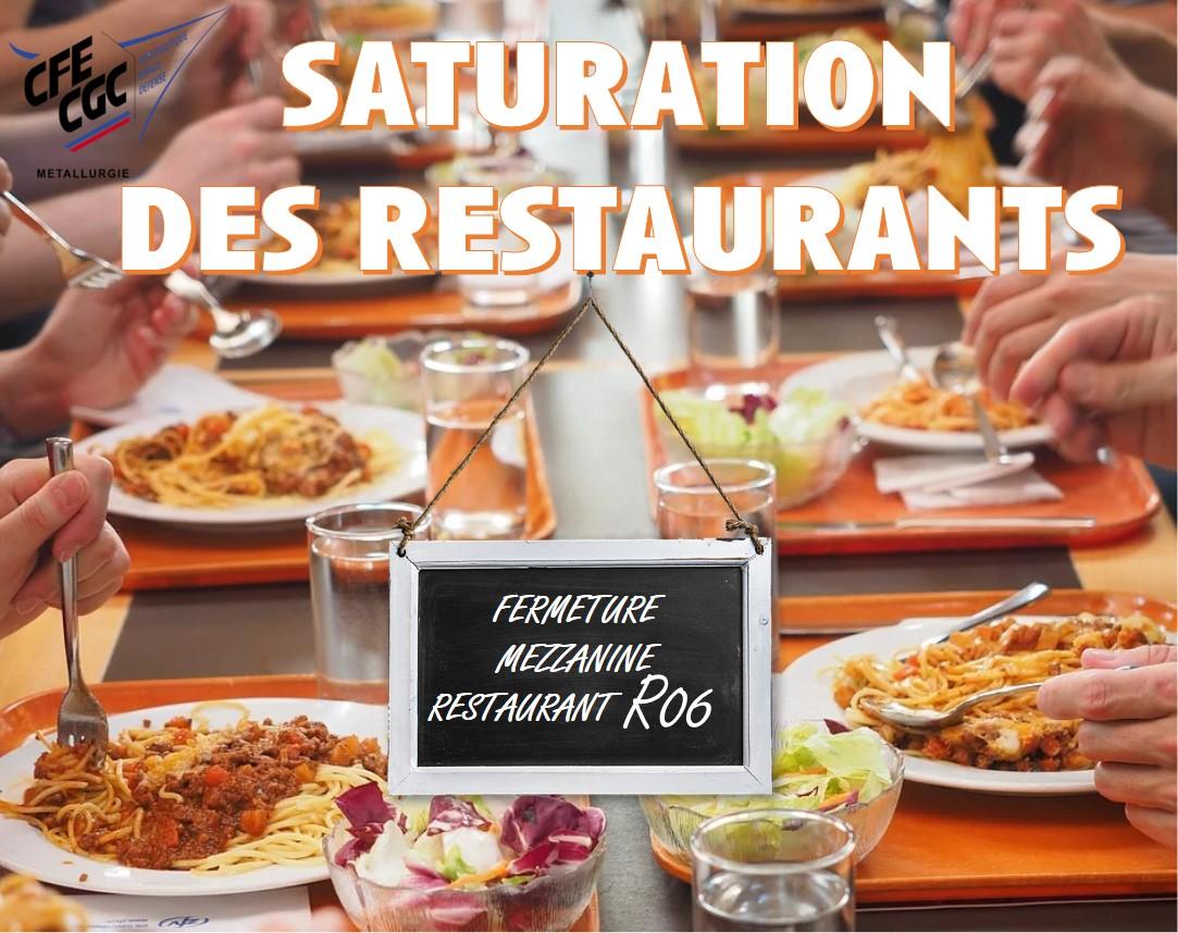 Fermeture Temporaire de la Mezzanine du Restaurant R06