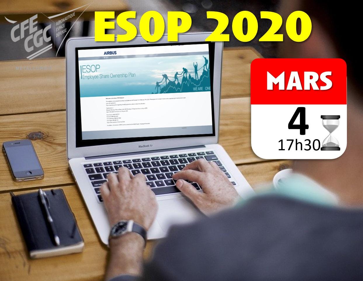 RAPPEL : Plan d'actionnariat salariés ESOP 2020