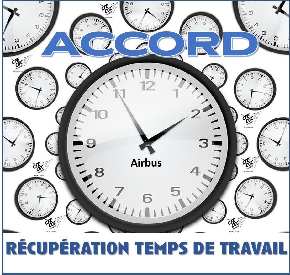 Accord Récupération Temps de Travail