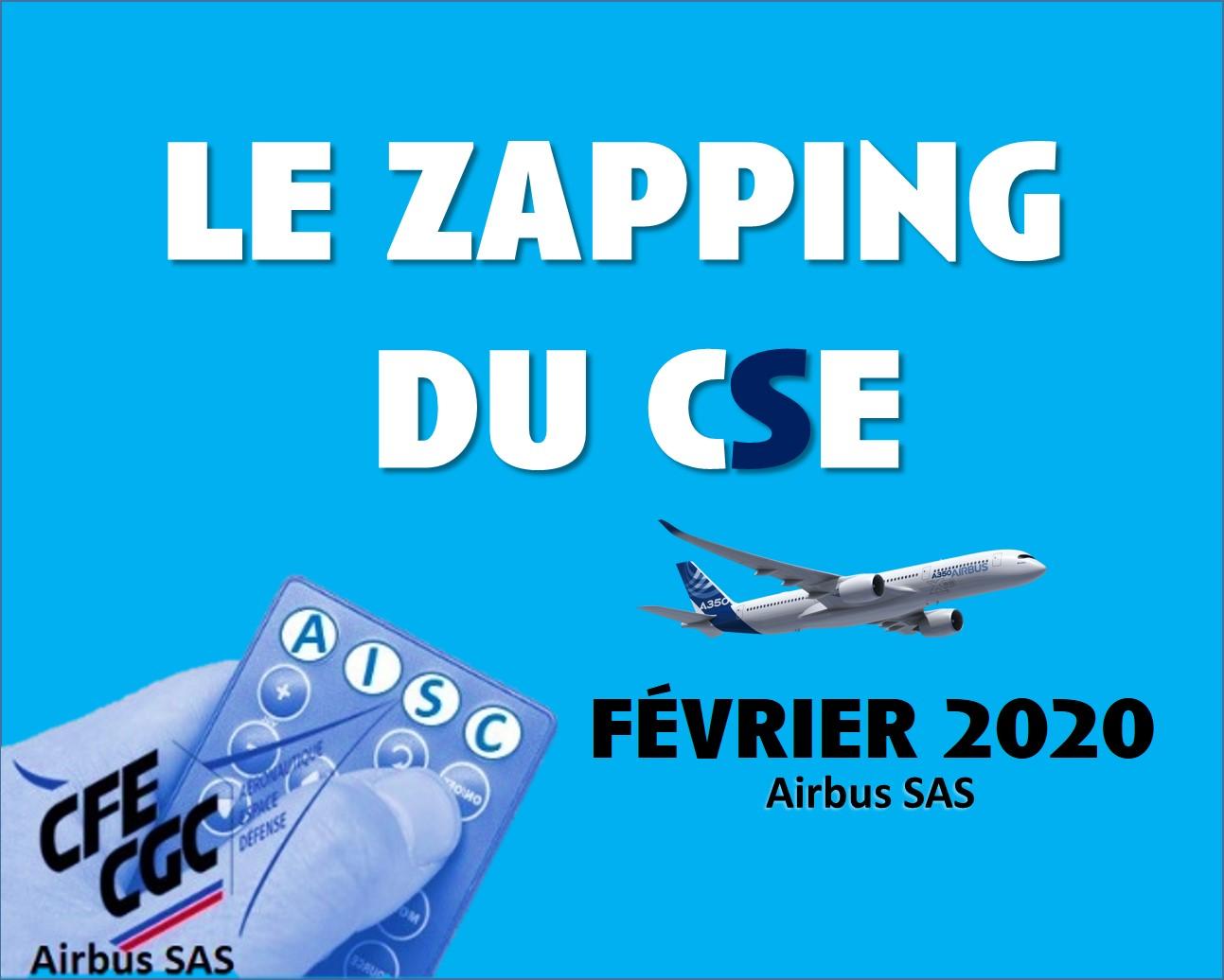 Le Zapping du CSE d'Airbus SAS – février 2020
