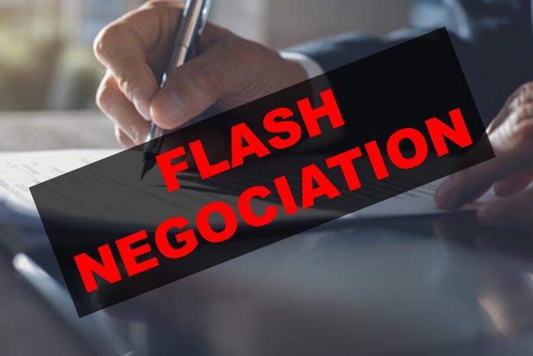 Flash sortie de négociation