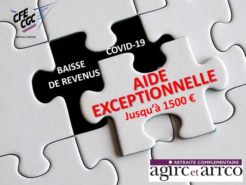 AGIRC-ARRCO : une aide exceptionnelle aux salariés du privé