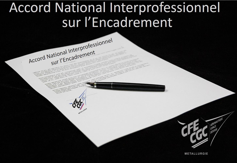 Accord National Interprofessionnel sur l'Encadrement