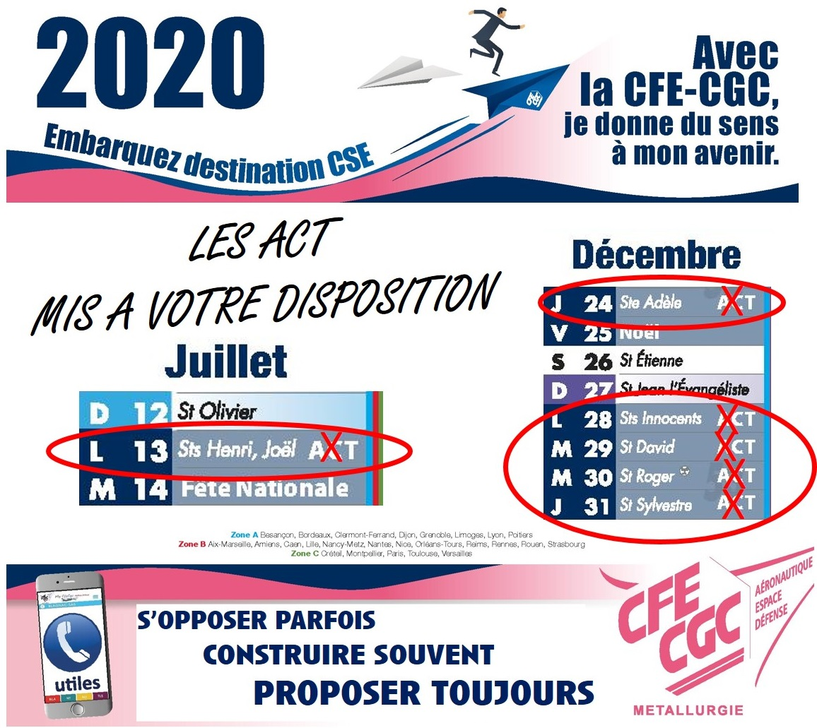 Les jours d'ACT 2020 mis à votre disposition !