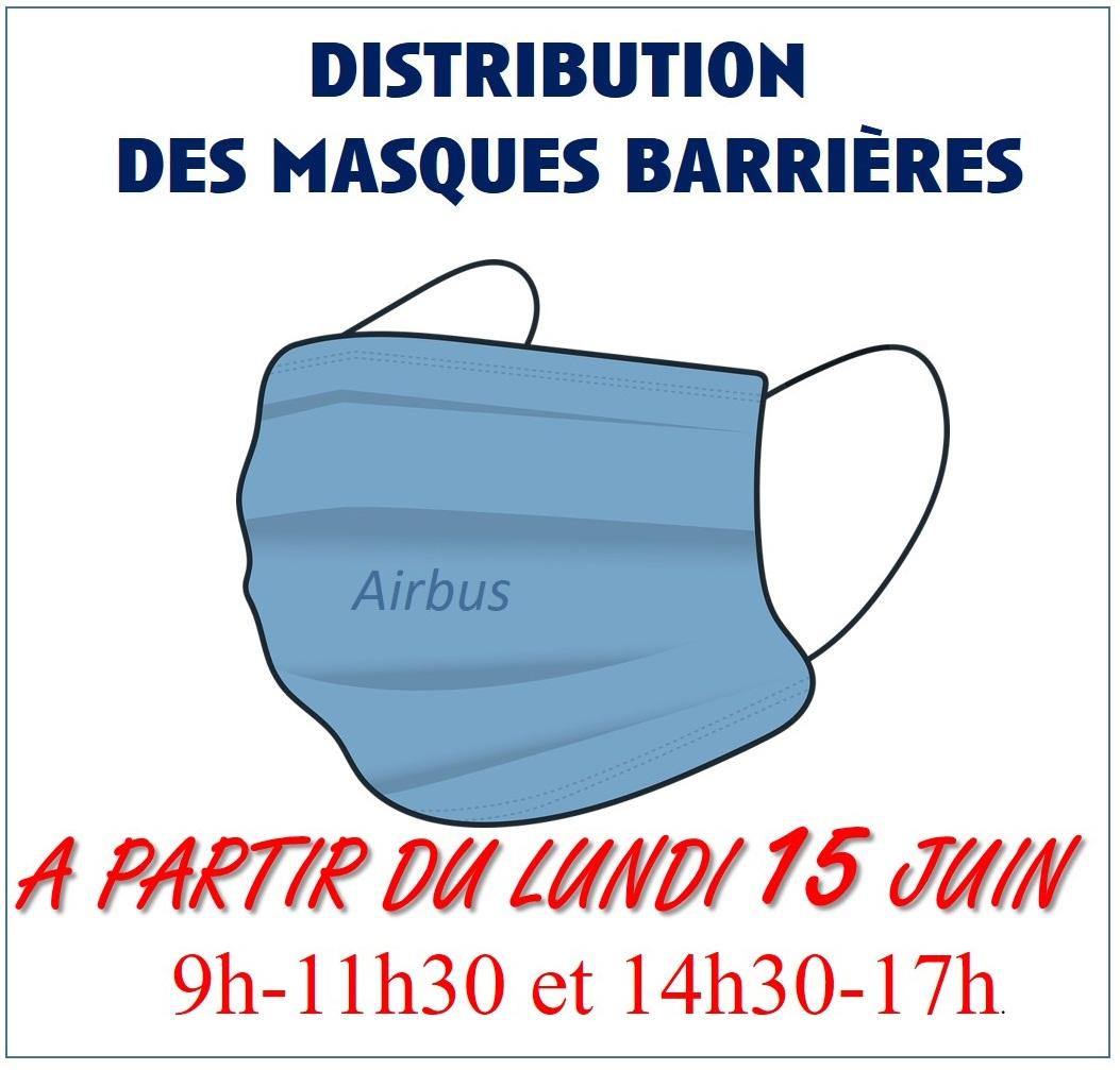 Distribution des masques de protection