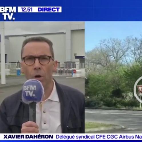 La CFE-CGC Airbus Nantes sur BFM TV