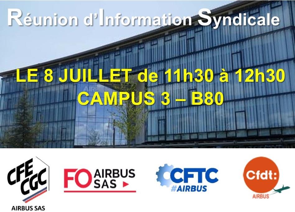 RAPPEL : Réunion d'Information Syndicale