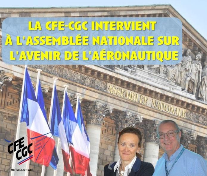 La CFE-CGC intervient à l'Assemblée Nationale  sur l'avenir de l'aéronautique