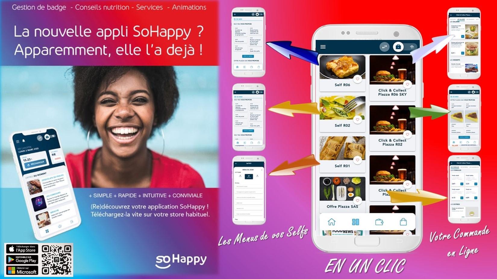 Téléchargez la nouvelle application SoHappy !