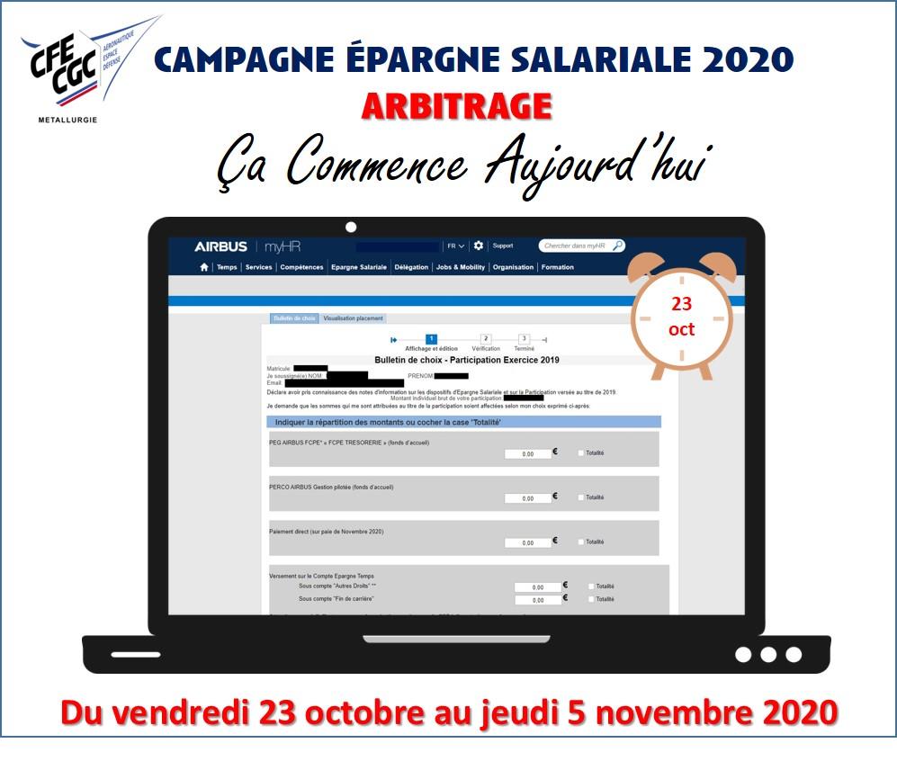 Campagne épargne salariale 2020