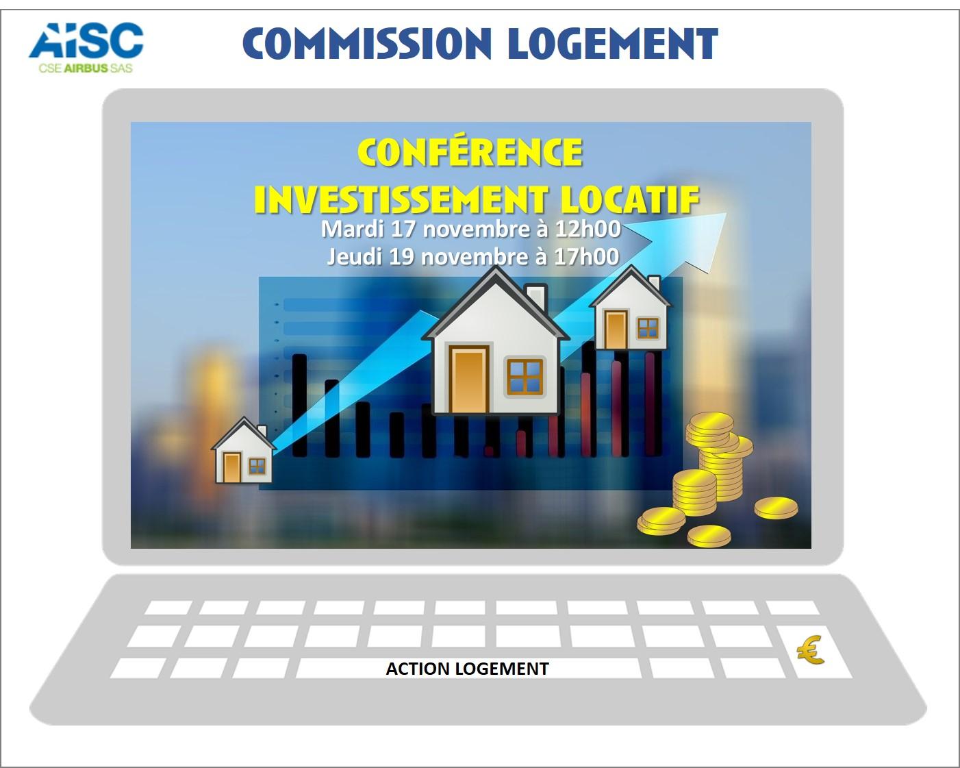 Commission logement : conférence investissement locatif.