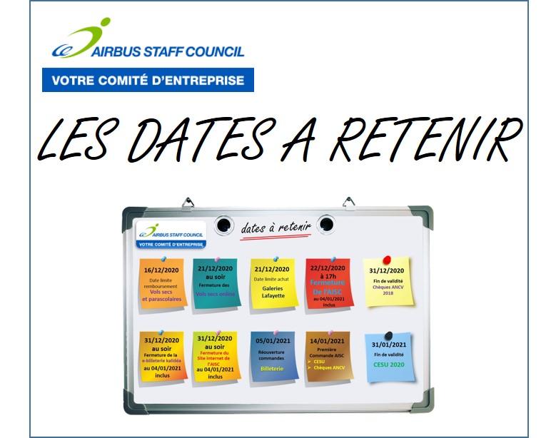 AISC, les dates à retenir !