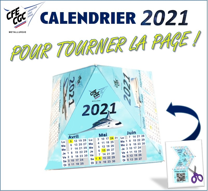 Calendrier 2021 CFE-CGC Airbus Nantes