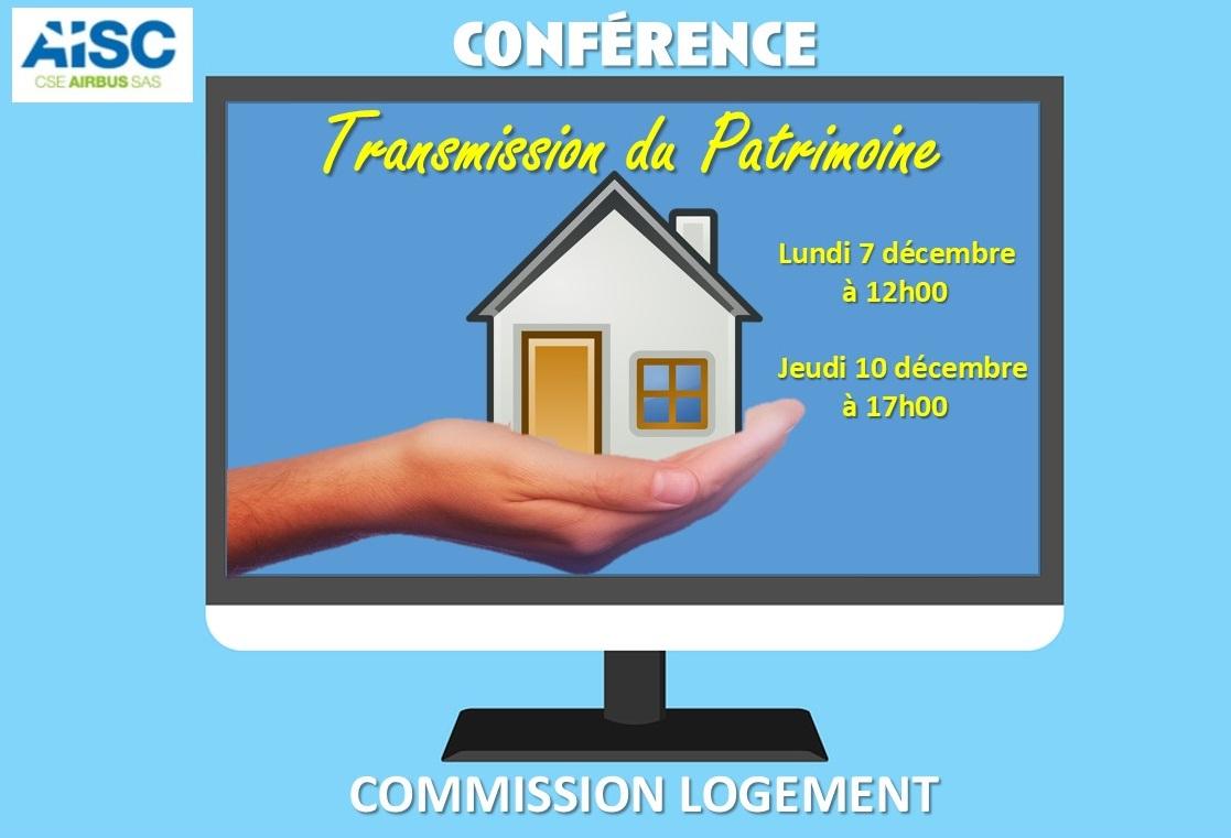 Commission logement : conférence transmission du patrimoine.