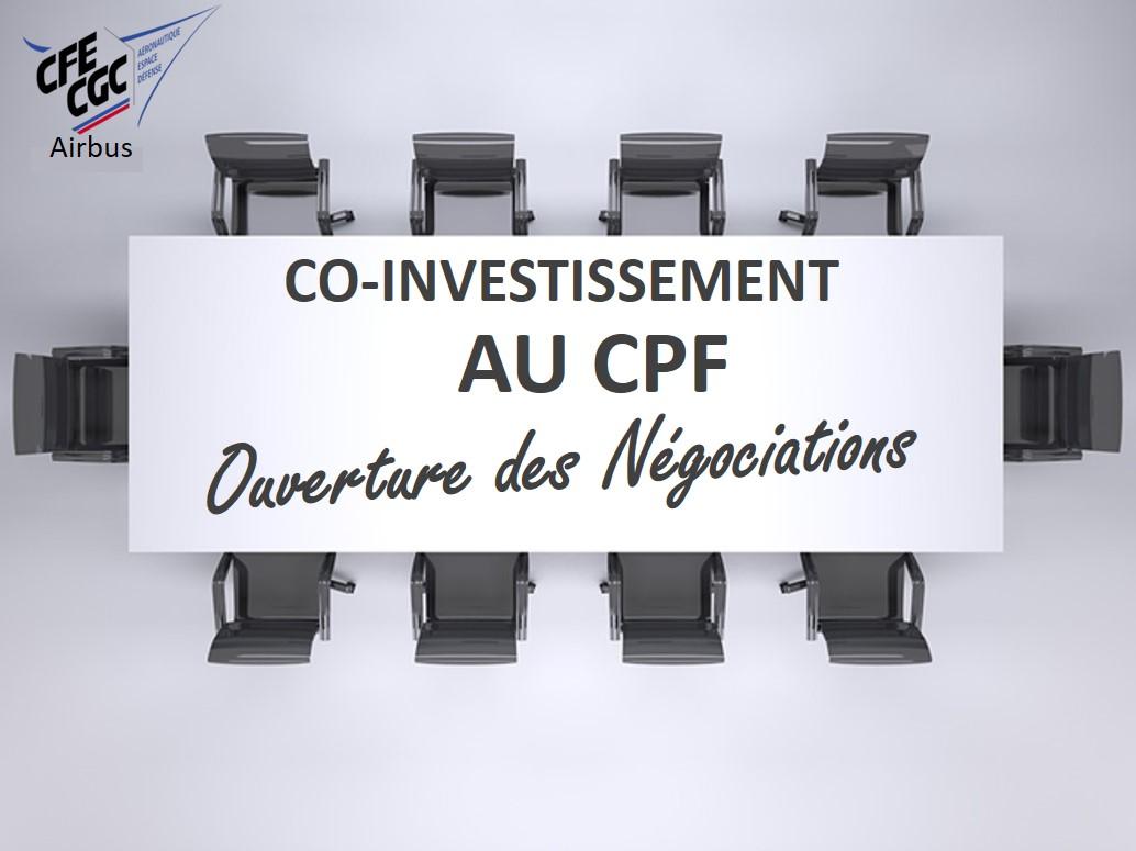 CO-INVESTISSEMENT AU COMPTE PERSONNEL DE FORMATION