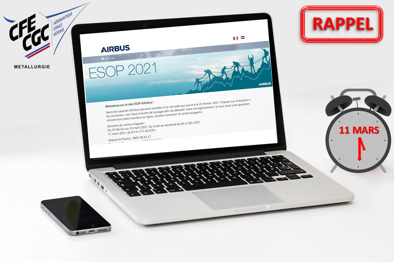 Airbus – Campagne Souscription ESOP 2021