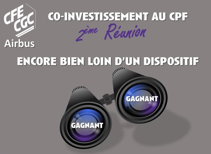 CO-INVESTISSEMENT AU CPF : 2ème Réunion.