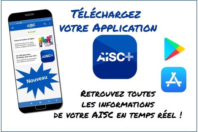 Nouveau : Téléchargez votre Application AISC +