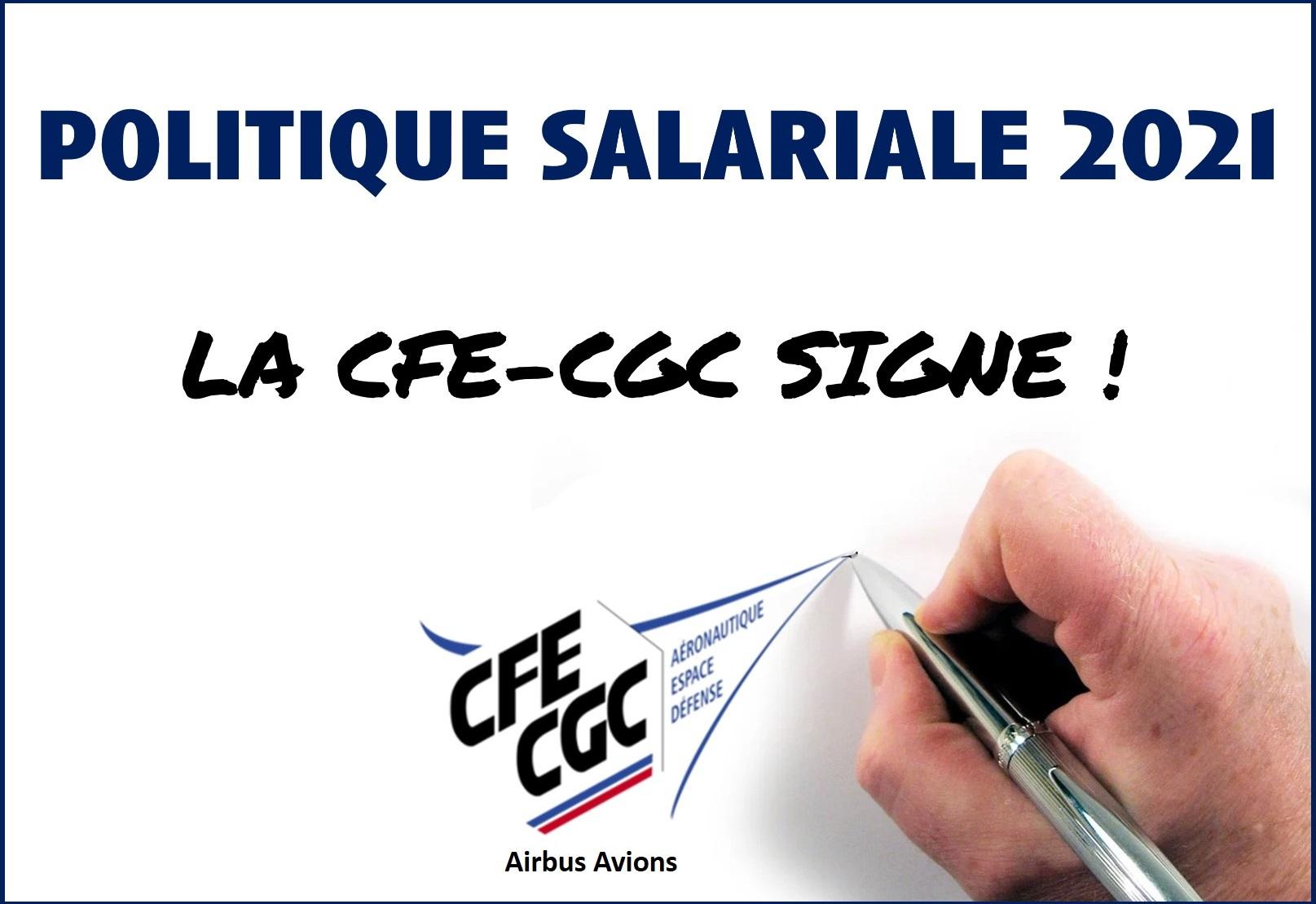 La CFE-CGC signe la politique salariale !