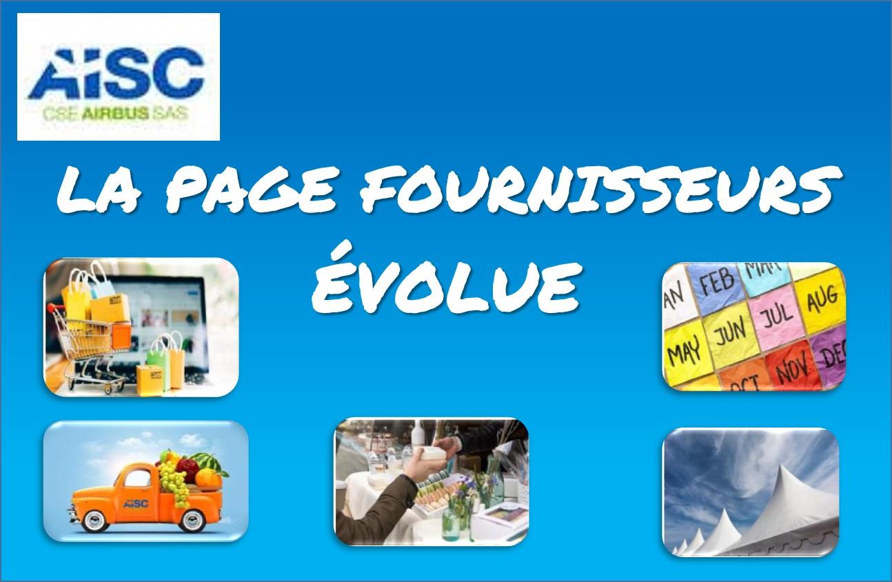 AISC : La Page Fournisseurs
