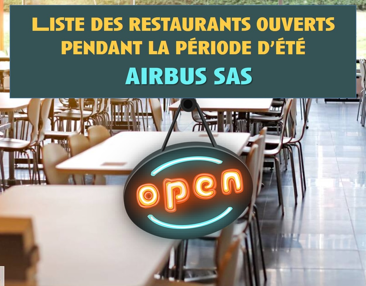 Les Restaurants ouverts pendant la période d'été