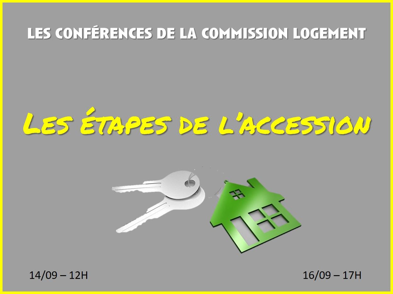 La Commission Logement vous propose une conférence sur le thème :
