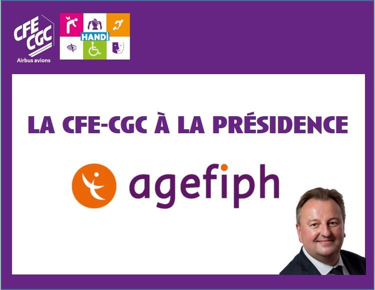 La CFE-CGC à la présidence de l'agefiph