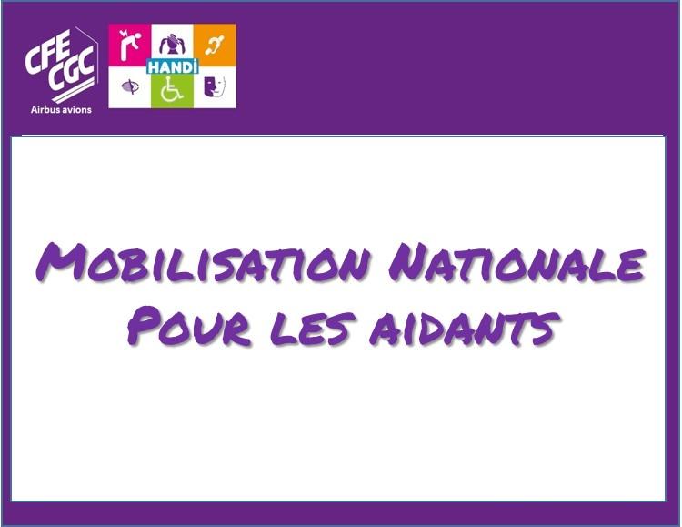 MOBILISATION NATIONALE POUR LES AIDANTS